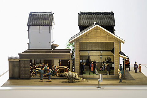 "Restoration model of Beni shop ""Isehan""Late of 19th century (1/30 scale)"