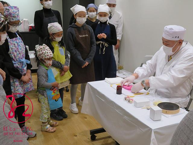 2月9日「紅色和菓子でバレンタイン」~御料紅で作る季節の和菓子~を開催しました