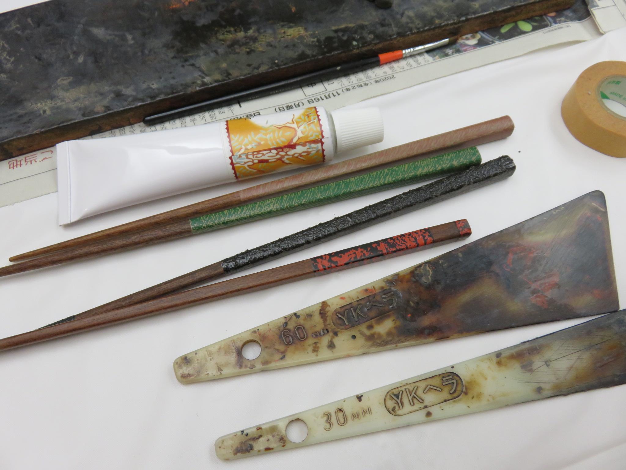 11月29日「塗る、研ぐ―漆箸制作入門」①を開催しました